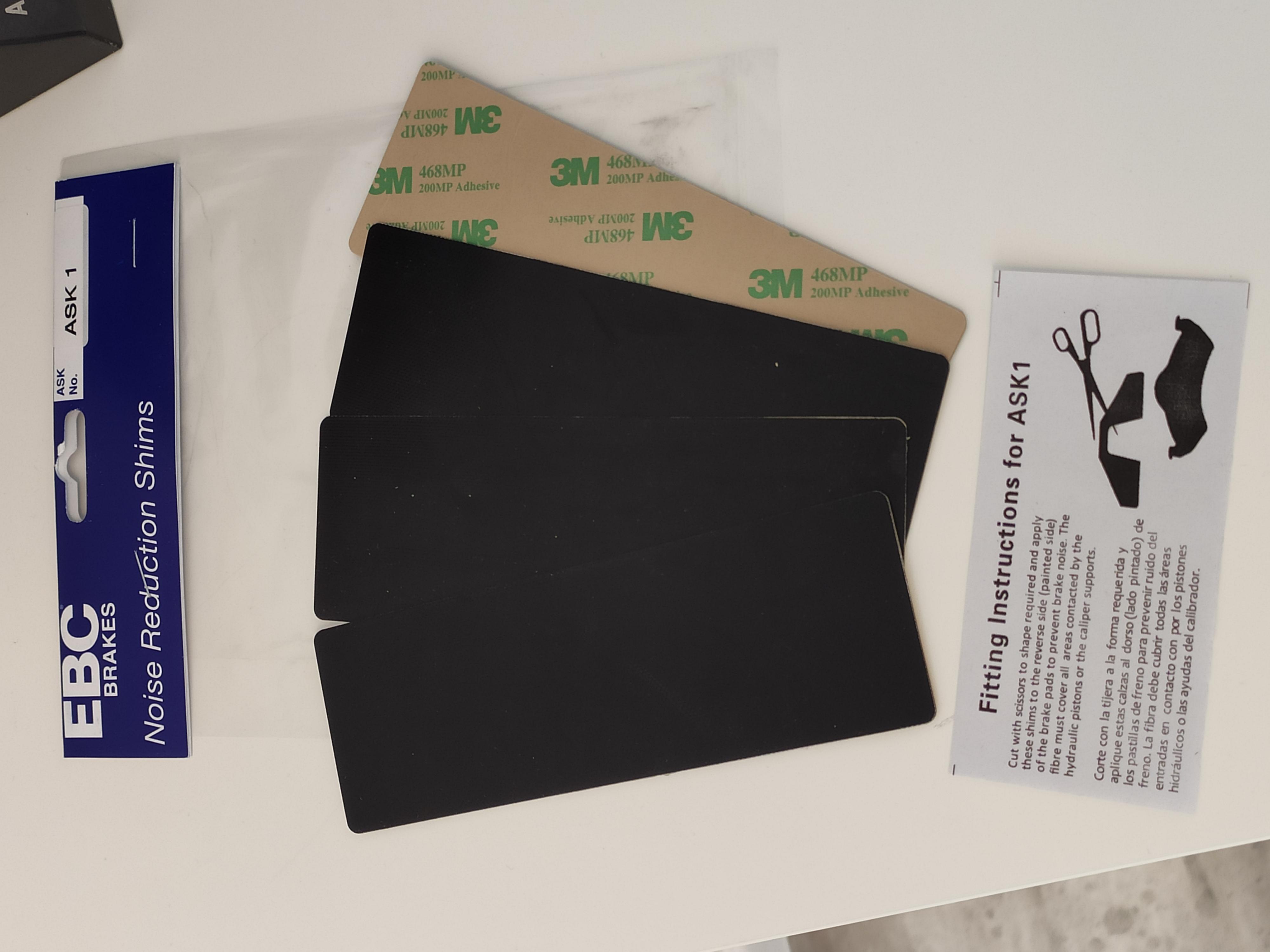 Uniwersalne podkładki antywibracyjne EBC Anti Squeal Shim Kit (ASK)