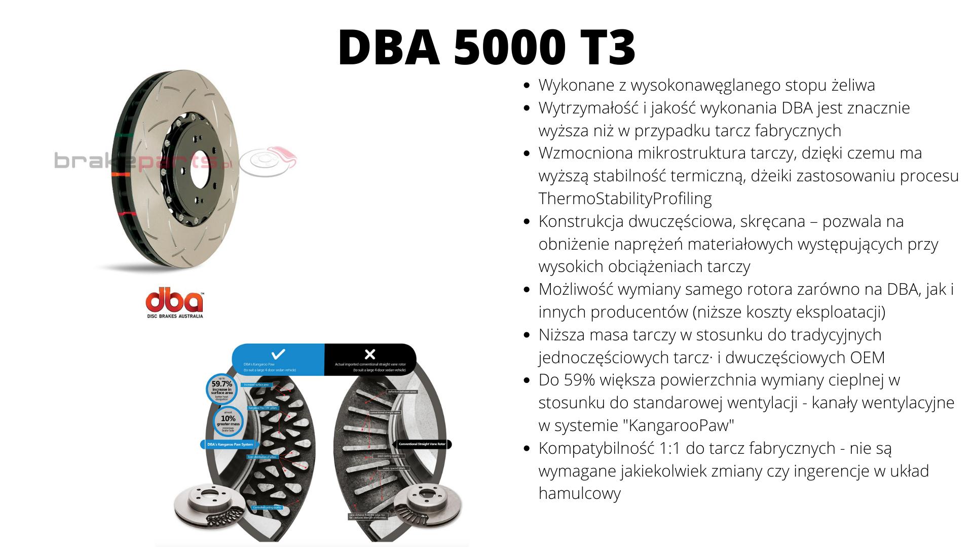 tarcze hamulcowe dwuczęściowe DBA 4000 T3 bmw M2 M3 M4